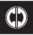 Cc logo initial with circle line cut design