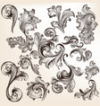 collection swirls in vintage style for design vector image vector image