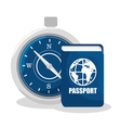 compass travel device isolated icon vector image