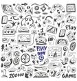 computers games - doodles set vector image vector image