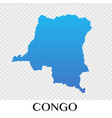 congo map in africa continent design vector image