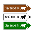 Direction sign safari park vector image