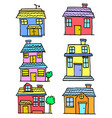 doodle of house style various set vector image vector image