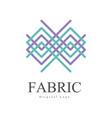 fabric original logo design creative geometrical vector image vector image