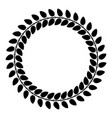floral circle wreath of leaves round floral vector image