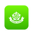 flower elegance icon green vector image vector image