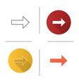 forward arrow icon vector image vector image