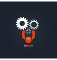 gears teamwork concept background vector image vector image