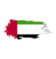 grunge brush stroke with united arab emirates vector image vector image
