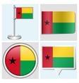 Guinea-Bissau flag - sticker button label vector image vector image