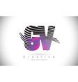 gv g v zebra texture letter logo design vector image vector image