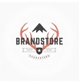 Hand drawn Deer horns Logo Vintage Style vector image vector image