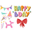 happy birthday party celebration entertainment vector image