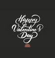happy valentines day text valentines vector image vector image