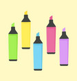 highlighter marker school office supplies vector image