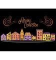 Houses in a Row Color vector image vector image