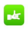 i love you hand sign icon digital green vector image vector image