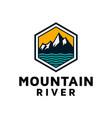 ice mountain hill lake river creek outdoor vector image vector image