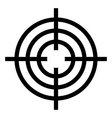 icon sight for accurate shooting crosshair vector image vector image