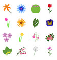 icons flowering collection vector image