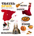infographic elements for traveling to spain vector image vector image