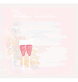 Invitation To wedding with champagne vector image vector image