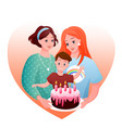 lesbian family celebration vector image vector image