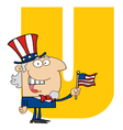 Letter U With Uncle Sam vector image vector image
