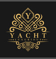 letter y logo - classic luxurious style logo vector image vector image