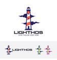 lighthouse consulting logo vector image vector image