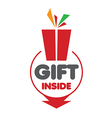 logo for gifts on a white background vector image