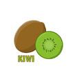 logo kiwi farm design vector image vector image