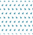 minimalistic winter blue deer seamless pattern vector image vector image