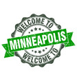 minneapolis round ribbon seal vector image vector image