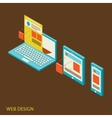 mobile and desktop website design development vector image vector image