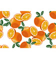 orange seamless pattern on white background vector image vector image