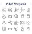 public navigation signs icons vector image
