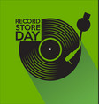 record store day retro vintage template 4 vector image vector image