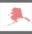 red dot map of alaska vector image
