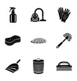restoring order icons set simple style vector image vector image