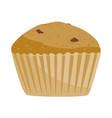 retro cupcake silhouette with chocolate vector image