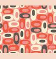 seamless retro design organic oval shapes vector image