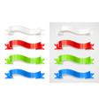 set of colour ribbon vector image vector image