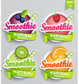 Set sticers smoothie with ribbon vector image vector image