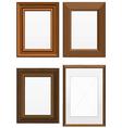 set wooden frames vector image vector image
