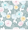 Silver and colors florals seamless pattern vector image vector image