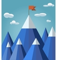 success or leadership concept with mountain vector image