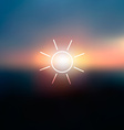 Sunrise vector image vector image