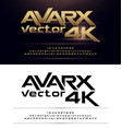 technology alphabet gold metallic and effect vector image vector image