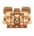 totemic wooden sculpture mayan culture vector image vector image